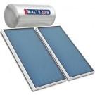MALTEZOS GLASS 160lt / 2 SAC 90x150 Τριπλής Ενέργειας